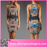 New Arrival Wholesale Multicolor Holiday Paisley Print Zuhair Murad Dresses For Sale