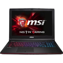 Brand New MSI GE62 Apache-002 15.6 Notebook Computer (Black & Red)