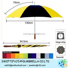 customised windproof golf umbrella wholesale China umbrella manufactory