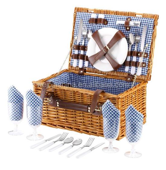 Picnic Basket Jakarta : Travel picnic set cheap wicker basket melamine
