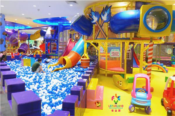 nuevo parque infantil lefunland tobogan piscina de bolas equipo para feria atracciones