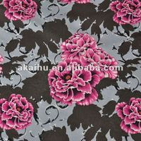 Flower Velour Fabric 100% polyester Printed Upholstery For sofa