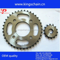 Africa motorcycle parts whoelsale GN125 motorcycle chain and sprocket kits