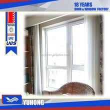 pvc window french type double glass window
