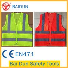 Wholesale reflective mesh safety vest/jacket with pockets