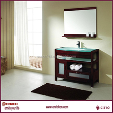 Bright colored slap-up chaozhou bathroom five-star cabinet basin