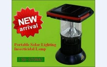 China factory direc best quality high efficiency solar flying insect killing lamp, electronic moth-killing lamp