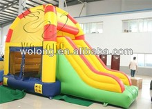 inflatable bouncy castle with water slide, fire truck inflatable bounce house