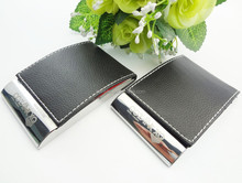 black business leather name card holder