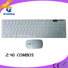 Custom logo white color 2.4g wireless mouse and keyboard set
