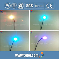 Optical fiber display with low attenuation and high brightness