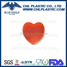 Heart shaped solid color melamine ashtray