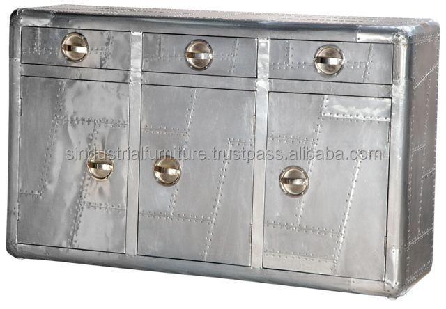 Aviator furniture sideboard buy aviator furniture metal for Sideboard qr