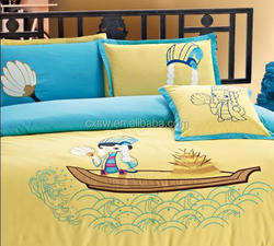 Microfiber polyester brushed fabric with cartoon cosplay printing for bedding set LEADING PRODUCT