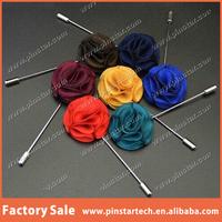 Custom Souvenirs Handmade Wool Rose Fabric Flower Lapel Pin for garment