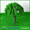 100mm high plastic green building layout model tree/make green decorative street model tree