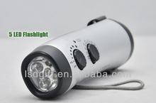 Wholesale portable home and outdoorfm flashlight fm solar powered radio