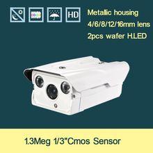 960P Waterproof CMOS 1.3 megapixel IP Camer 2Pcs H.LED lamp security video capture surveillance HD onvif cctv Infrared IR camera
