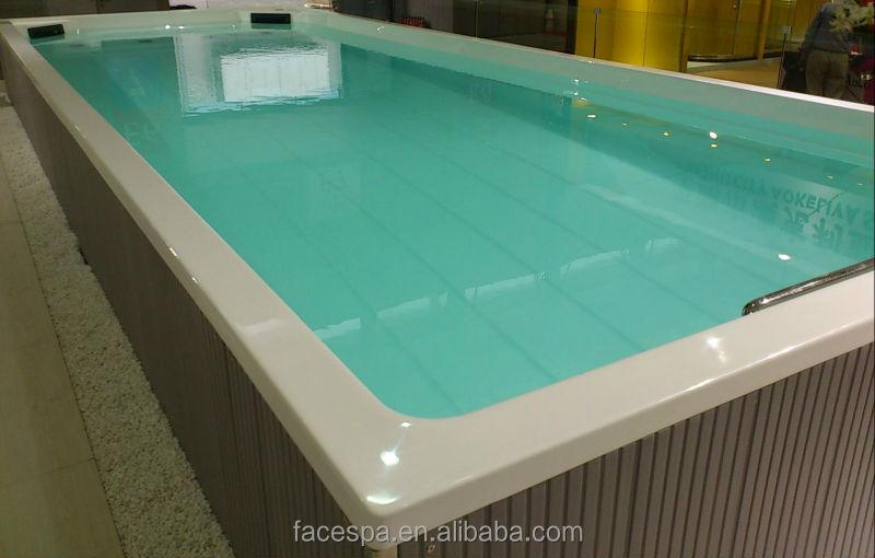 Prefabricated pools above ground swim spa fs s12 for for Prefabricated pools