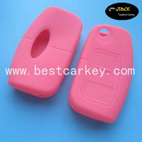 Hot sale smart key cover for ford key case silicon key ford (pink) S-MAX Fiesta, Focus, Mondeo