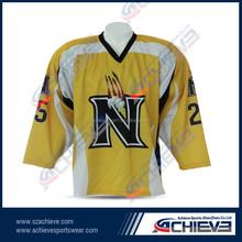 2015 Hot-selling china latest sample team custom ice hockey jersey