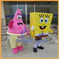China patrick star spongebob mascot costumes for adult