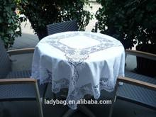 hecho a mano de algodón bordado mantel