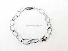 Wholesale New Design Protea Chain Link Oxidised Bracelet
