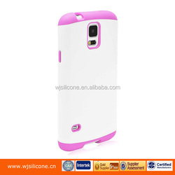 Protective Dual Layer PC+Silicone Food Grade Phone Case For Samsung Galaxy S5