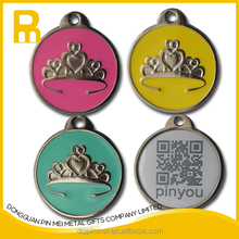2015 shinny metal dog tag qr code for getting pets back easily