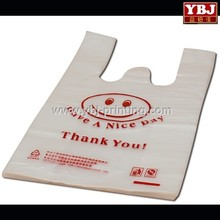 guangzhou ybj Disposable supermarket T-shirt shopping plastic bags