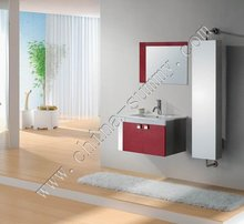 Smart Design Red Bathroom Vanity with 360 Rotatable Side Cabinet (S-0904)