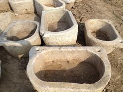 Antique D Shape marble stone trough