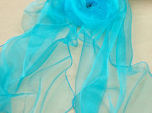 D20138Q 2014 THE NEW WOMAN'S PURE COLOR ORGANZA SILK SCARF