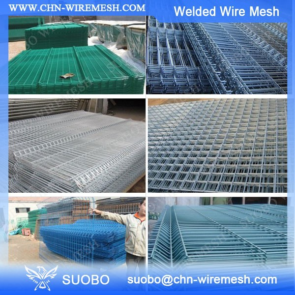 Brc 3315 Welded Mesh 1x1 Pvc Coated Welded Wire Mesh Fence
