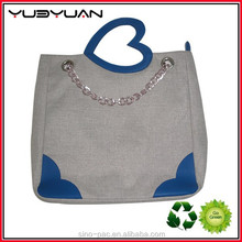 Hot selling new resuable canvas bum bag for women fashion designer printed logo organza bags fashion bag