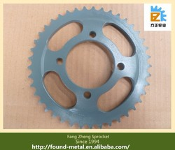 China Factory Supply 45# Steel AX100 Motorcycle Chain Wheel