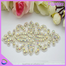 Top Quality nice crystal AB stone applique iron on