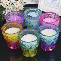 Traditional Multi-Coloured Candle to attract energy of success