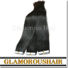 Wholesale top quality 100% human hair mix color 24inch super thin virgin tape hair extensions