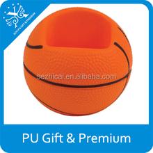 stress basketball shape phone holder pu stress basketball phone holder basketball shaped stress mobile holder