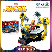 birthday gifts for boys child plastic building bricks assemble minifigures toys super heroes Armor series figures DE0203063