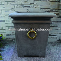 Square Resin Outdoor Large Plant Containers