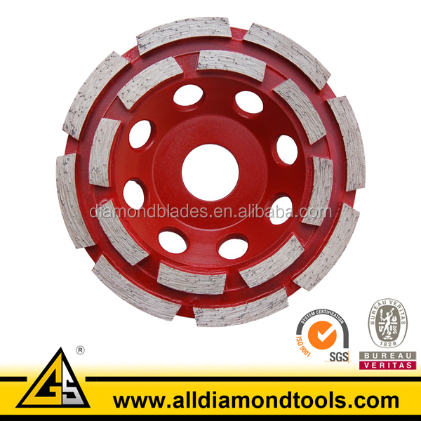 Double Row Diamond Grinding Cup Wheel for Concrete