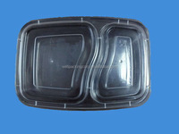 disposable two compartment microwave food container wholesale