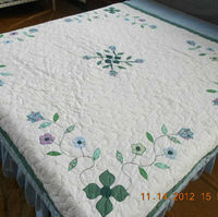 200X200cm Applique Floral Cotton Quilt XDN033