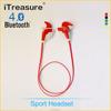 iTreasure wireless Bluetooth 4.0 Sport Stereo Headset Headphone Earphone For Cell Phone