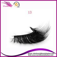 false eyelashes synthetic hair 3D strip eyelash synthetic mink lashes