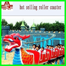 Hot sale! Amusement/ theme park rides sliding dragon roller coaster for kids and adults
