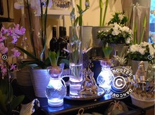 Dinner Party 4 Inch Super Bright Pure White Under Vase Lighting Mini Light Base